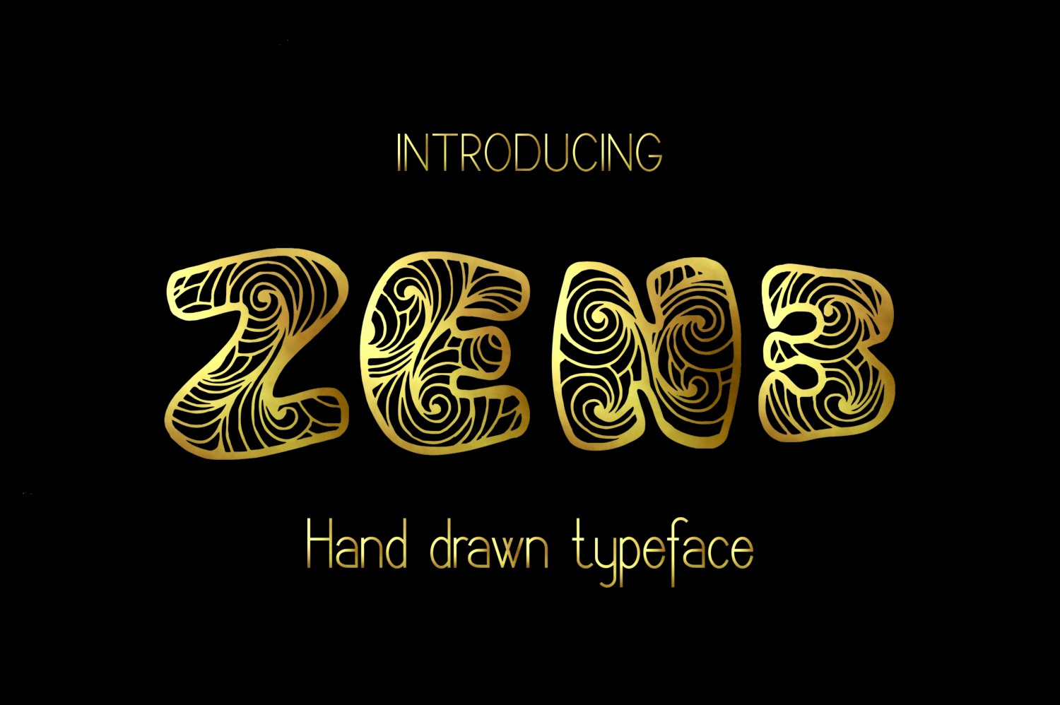 Zen3 Decorative Font By Eva Barabasne Olasz