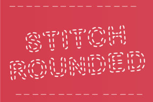 Stitch Rounded Decorative Font By GraphicsBam Fonts