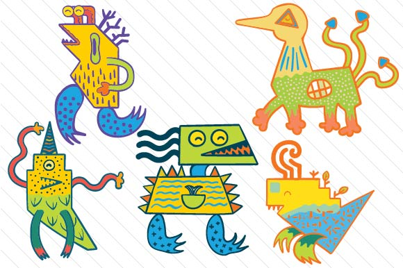 Monsters Kids Craft Cut File By Creative Fabrica Crafts