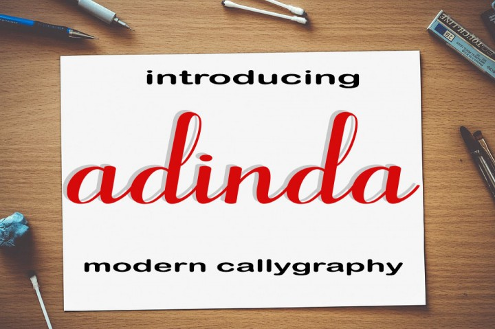 Print on Demand: Adinda Script & Handwritten Font By maydhen studio