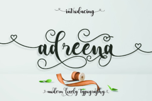 Adreena Script by Aqr Typeface