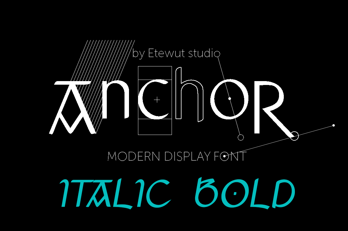 Print on Demand: Anchor Italic Bold Display Font By Etewut