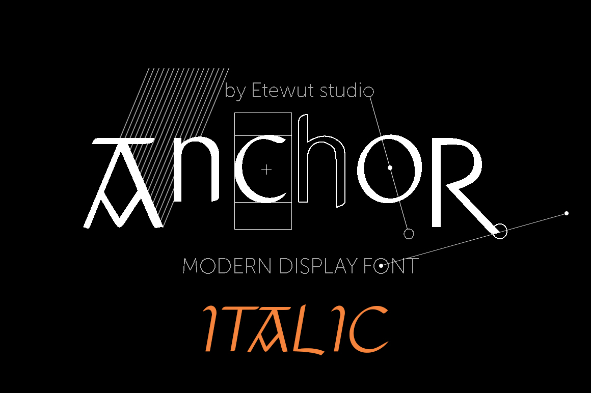 Print on Demand: Anchor Italic Display Font By Etewut