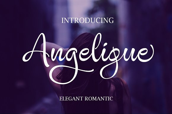 Print on Demand: Angelique Script & Handwritten Font By Byuly Ayika - Image 1