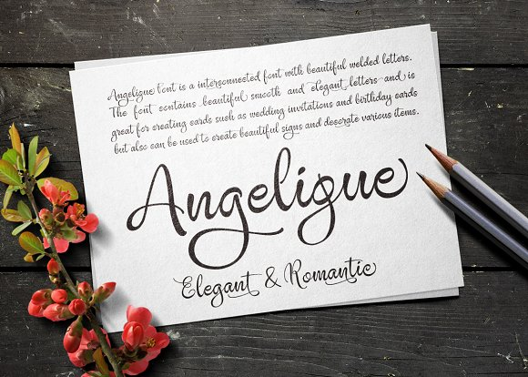 Print on Demand: Angelique Script & Handwritten Font By Byuly Ayika - Image 2