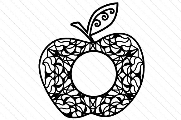 Download Free Apple Monogram Frame Svg Cut File By Creative Fabrica Crafts for Cricut Explore, Silhouette and other cutting machines.