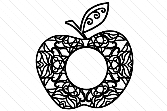 Apple Monogram Frame Svg Cut File By Creative Fabrica