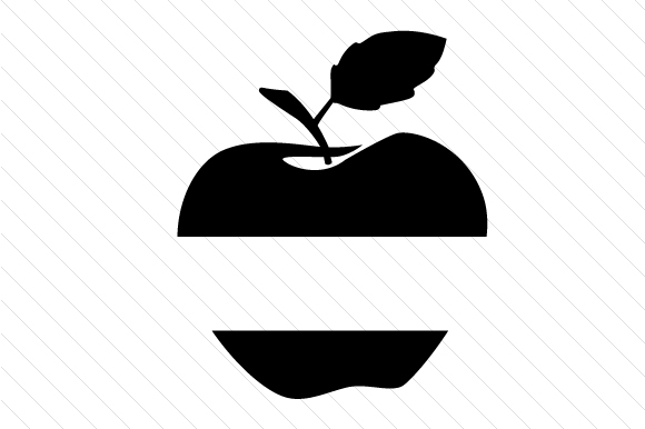 apple split design svg cut file by creative fabrica crafts