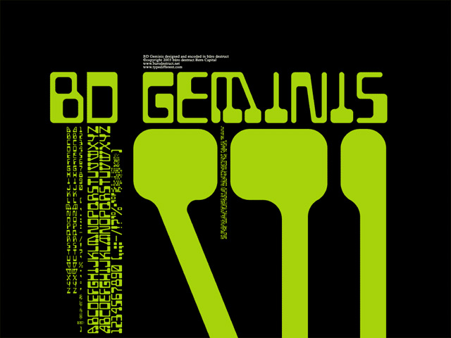 Print on Demand: BD Geminis Font By Büro Destruct