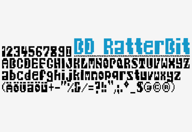 Print on Demand: BD RatterBit Font By Büro Destruct
