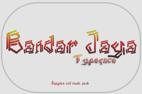 Print on Demand: Bandar Jaya Display Font By Gblack Id