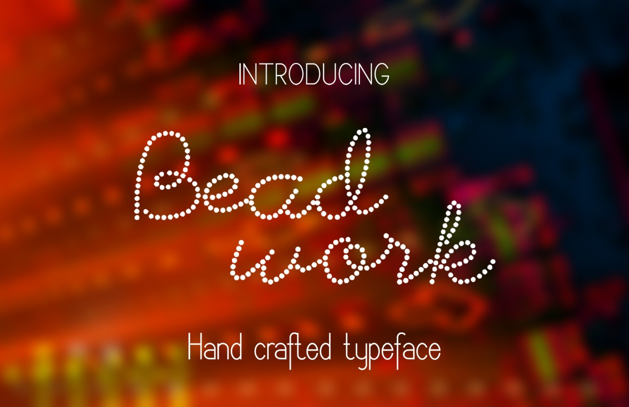 Print on Demand: Beadwork Script & Handwritten Font By Eva Barabasne Olasz