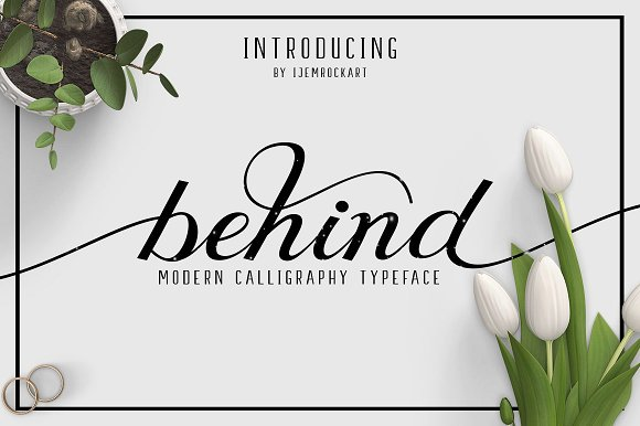 Print on Demand: Behind Script & Handwritten Font By Ijem RockArt