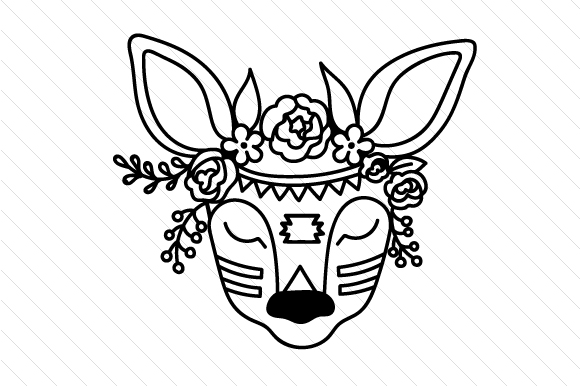 Boho Deer Svg Cut File By Creative Fabrica Crafts