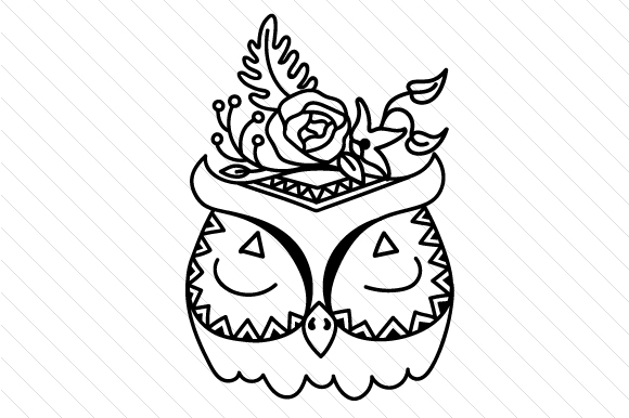 Download Free Boho Owl Svg Cut File By Creative Fabrica Crafts Creative Fabrica for Cricut Explore, Silhouette and other cutting machines.