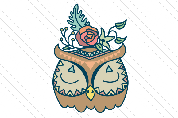 Boho Owl Boho Archivo de Corte Craft Por Creative Fabrica Crafts