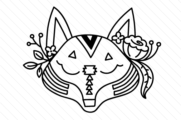 Download Free Boho Fox Svg Cut File By Creative Fabrica Crafts Creative Fabrica for Cricut Explore, Silhouette and other cutting machines.