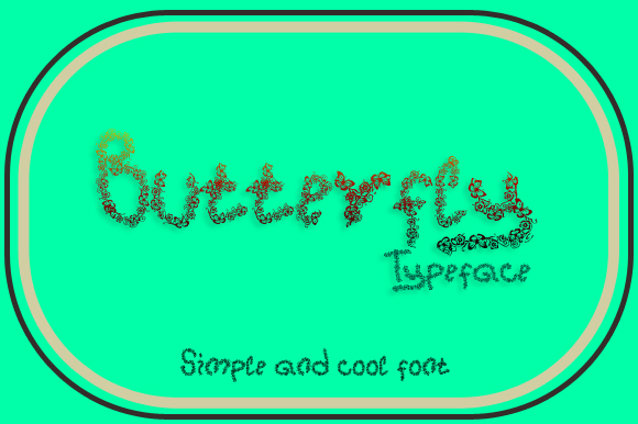 Print on Demand: Butterfly Display Font By Gblack Id