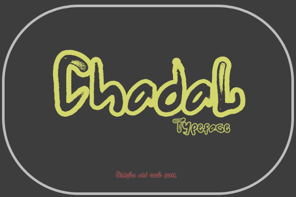 Print on Demand: Chadal Display Font By Gblack Id - Image 2