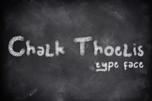 Print on Demand: Chalk Thoelis Display Font By Gblack Id