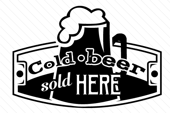 Download Free Cold Beer Sold Here Svg Cut File By Creative Fabrica Crafts for Cricut Explore, Silhouette and other cutting machines.
