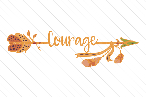 Courage Arrow Boho Craft Cut File By Creative Fabrica Crafts