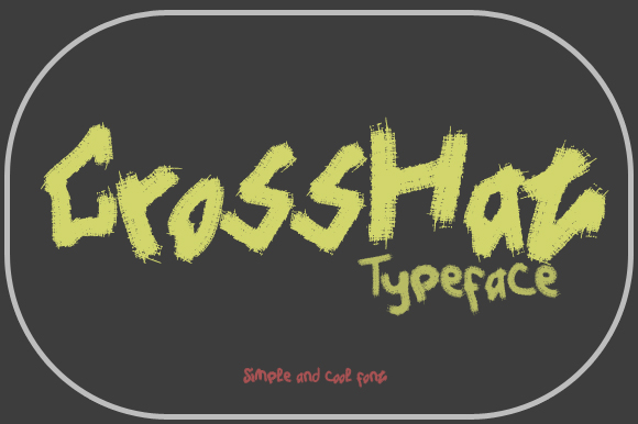 Print on Demand: CrossHat Display Font By Gblack Id - Image 2
