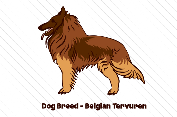 Dog Breed - Belgian Tervuren Craft Design By Creative Fabrica Crafts