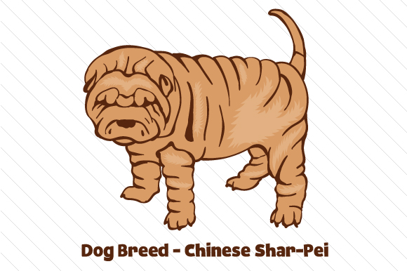 Dog Breed - Chinese Shar-Pei Dogs Craft Cut File By Creative Fabrica Crafts