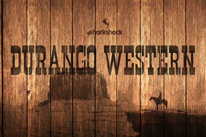 Print on Demand: Durango Western Slab Serif Font By Sharkshock