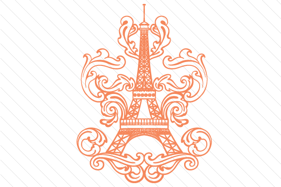 Eiffel Tower Intricate Archivos De Corte Svg Por Creative