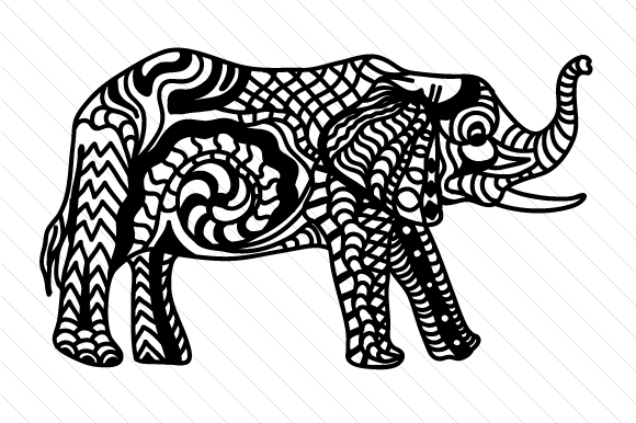 Elephant Zentangle Craft Cut File By Creative Fabrica Crafts