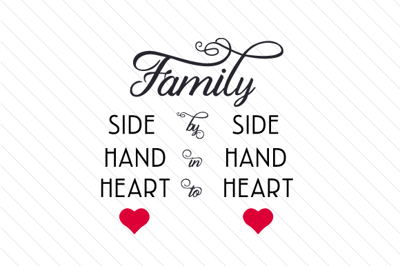 Download Free Family Side By Side Hand In Hand Heart To Heart Svg Cut File By SVG Cut Files