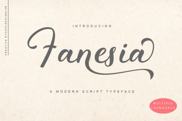 Print on Demand: Fanesia Manuscrita Fuente Por Cooldesignlab