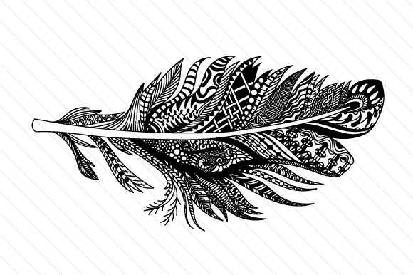 Feather Intricate 1 Zentangle Craft Cut File By Creative Fabrica Crafts