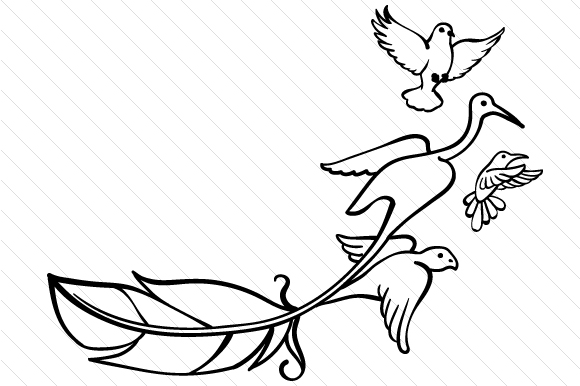 Download Free Feather With The End Flying Into Birds Svg Cut File By Creative for Cricut Explore, Silhouette and other cutting machines.