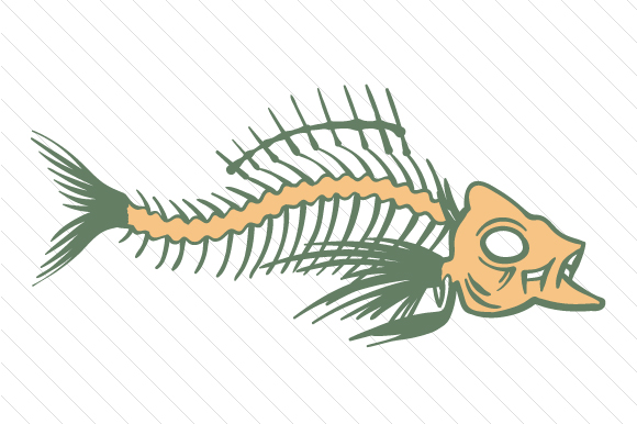 Fish Skeleton Designs & Drawings Craft Cut File By Creative Fabrica Crafts