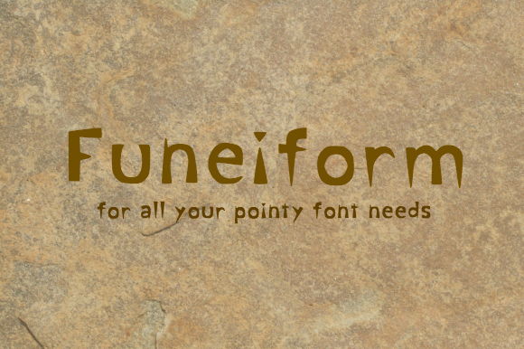 Print on Demand: Funeiform Display Font By Marlee Pagels