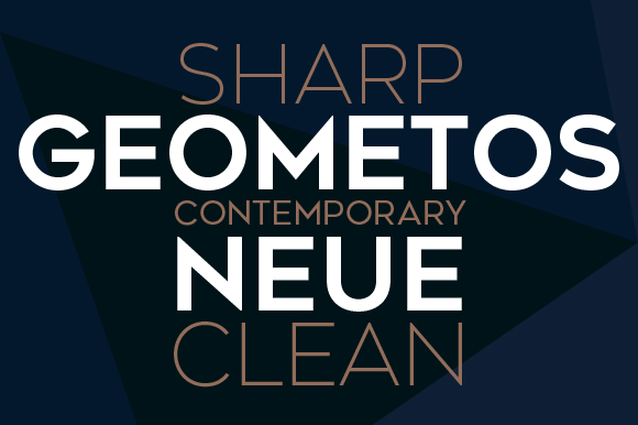 Print on Demand: Geometos Neue Sans Serif Font By Deepak Dogra