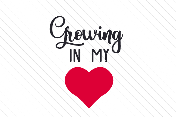 Download Free Growing In My Heart Svg Cut File By Creative Fabrica Crafts for Cricut Explore, Silhouette and other cutting machines.