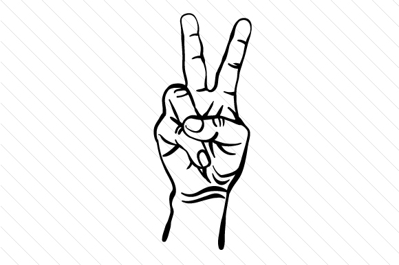 Download Free Hand Peace Sign Archivos De Corte Svg Por Creative Fabrica for Cricut Explore, Silhouette and other cutting machines.