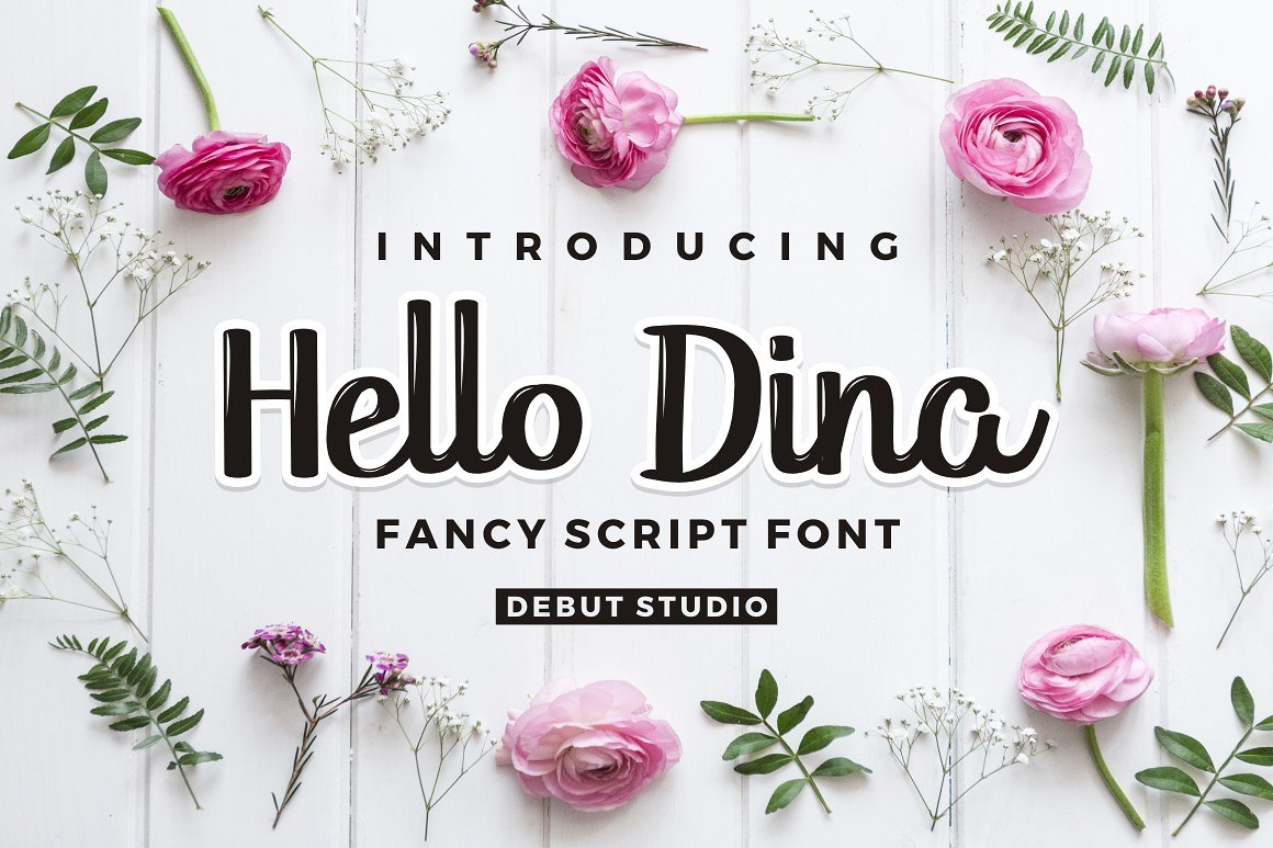 Hello Dina Font By Debut Studio