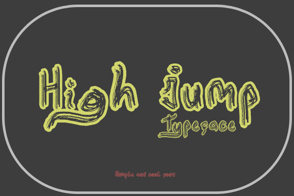 Print on Demand: High Jump Display Font By Gblack Id
