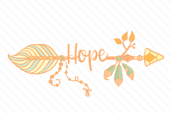 Hope Arrow Boho Craft Cut File By Creative Fabrica Crafts