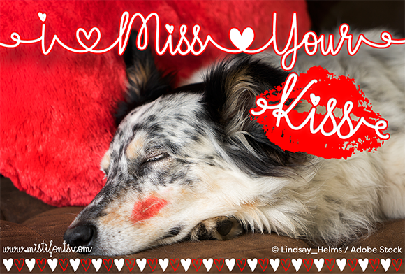 Print on Demand: I Miss Your Kiss Script & Handwritten Font By Misti