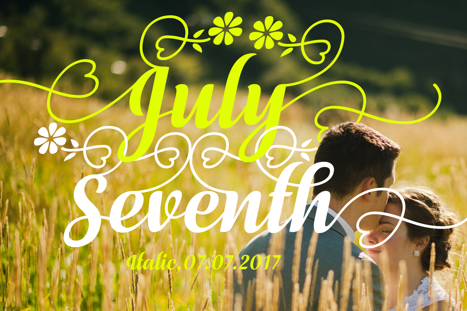 Print on Demand: July Seventh Italic Script & Handwritten Font By Situjuh