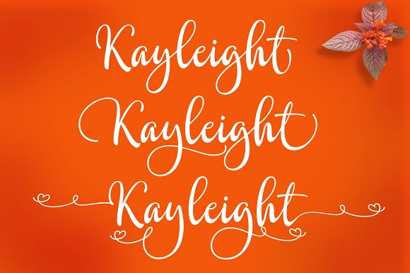 Print on Demand: Kayleight Script & Handwritten Font By Byuly Ayika - Image 2