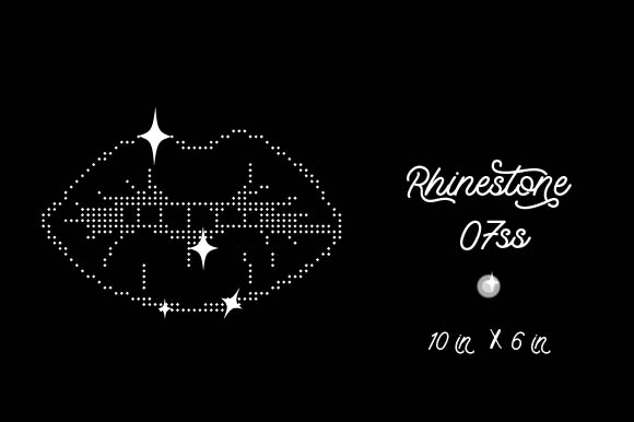 Download Free Lips Rhinestone Template 7ss 10in X 6in Archivos De Corte Svg for Cricut Explore, Silhouette and other cutting machines.