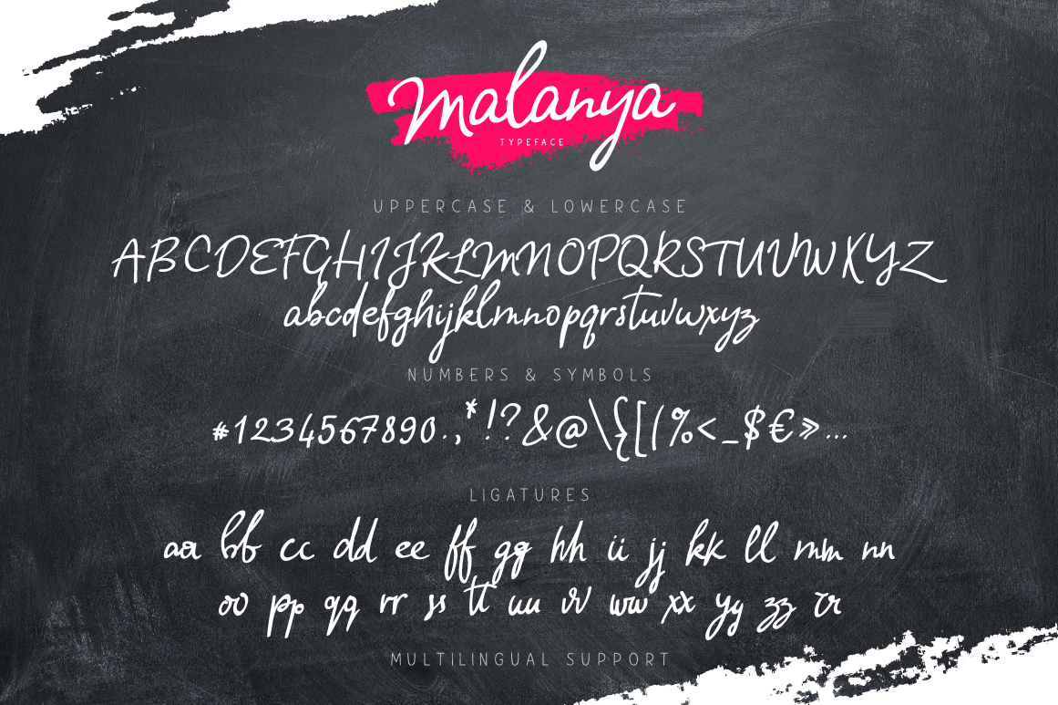 Print on Demand: Malanya Script & Handwritten Font By ChekArt - Image 5