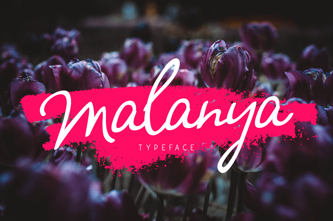 Print on Demand: Malanya Script & Handwritten Font By ChekArt
